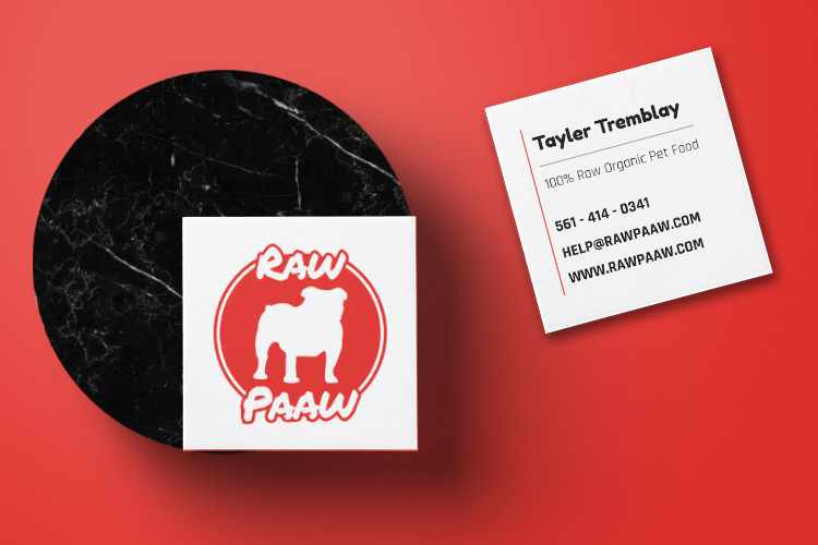 Raw Paaw - Business Cards