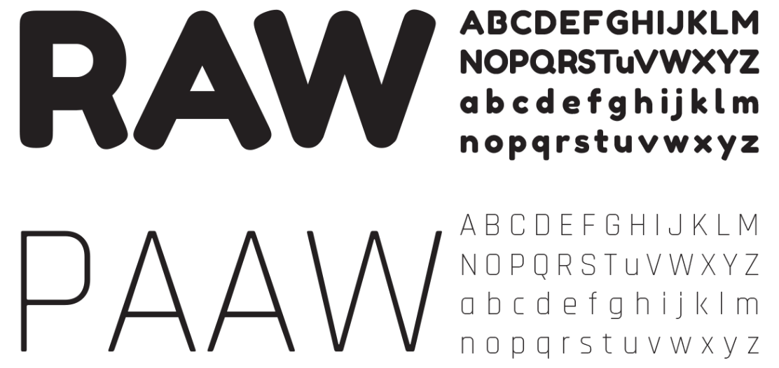 Raw Paaw - Fonts